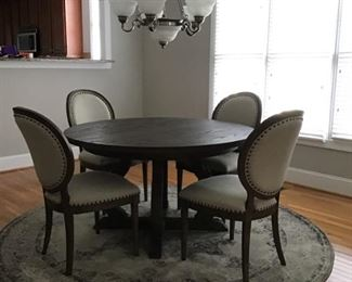Bassett dining table with extension leaf