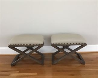 Bassett custom fabric stools