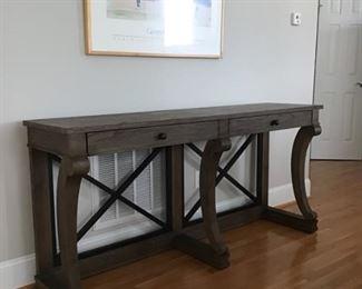 Bassett sofa/side table