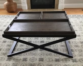 Bassett serving tray coffee table. 375.00