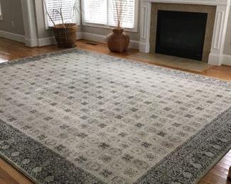 9.10 x 12'10 rug. Pet free and smoke free home!