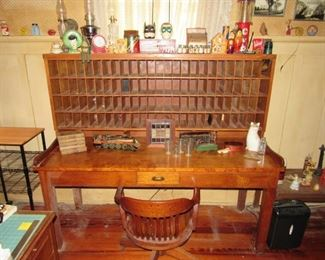 Rare Post office or hotel mail desk