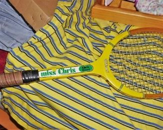Vintage Chris Evert tennis racket