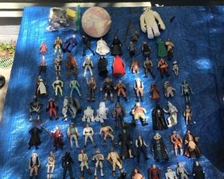 Lot of over 60 vintage Mattel  Star Wars characters $150