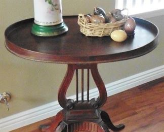 Mersman antique harp table