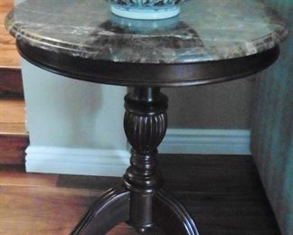 A second marble top table
