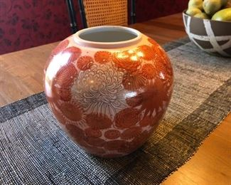 Genuine Kutani Trade Mark Porcelain Ginger Jar                                                   $40