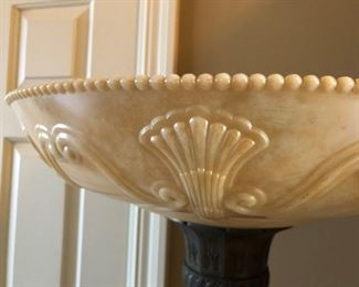 Alabaster Lamp Shade on Floor Lamp