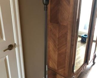 Antique Saloon Floor lamp with Beautiful Alabaster Shade             $225