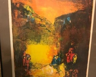 Lebadang Hoi Lithograph, framed  24' by 30'