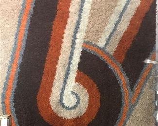 "large ""Beats by Dre"" vintage hooked wool framed art piece"