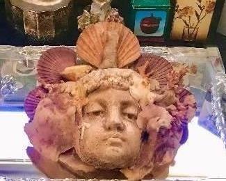 shell art sconce,