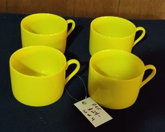 there are 8  of these vibrant fitz and floyd vintage cups