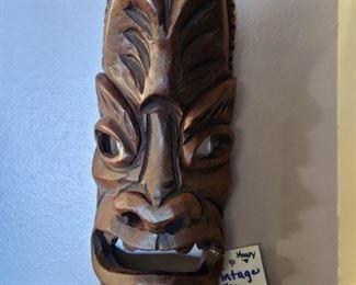 vintage 60's Hawaiian Tiki carving