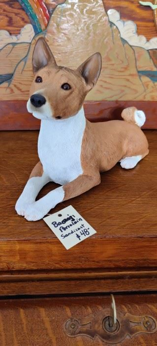 """Sandicast Basenji dog . No flaws, this is a heavy piece  10"""""""