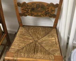 . . . an original HITCHCOCK chair (seat needs slight repair) -- NICE FIND!