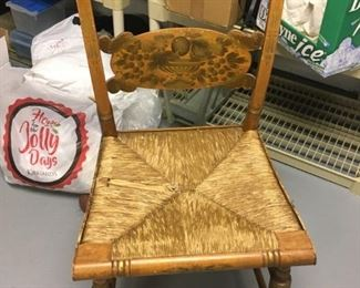 . . . this is a matching HITCHCOCK chair -- again -- seat needs slight repair -- GREAT FINDS!