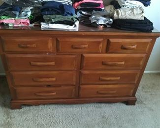 . . . a matching Heywood Wakefield mid-century dresser -- THERE IS ALSO A MATCHING BED TO THIS SET!