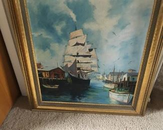 . . . a nice nautical oil.  This may or may not be in the sale as it was painted by a family member and that decision has not been finalized.