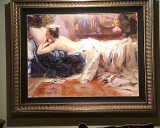 """(No. 4) Pino Daeni """"Mystic Dreams"""" Giclée on Canvas 7/50 PP ~ comes with COA ~ Measures 50"""" x 40"""" with frame. $900 OBO"""