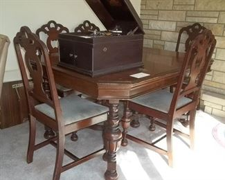 Jacobean table and chairs