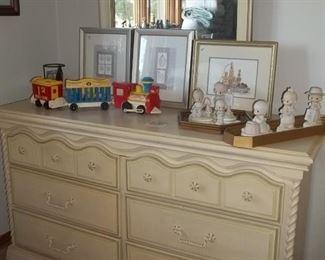 vintage Lea double dresser with mirror
