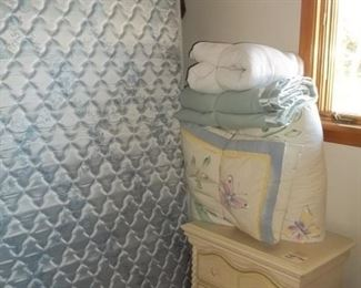 full size bed set and Lea nightstand