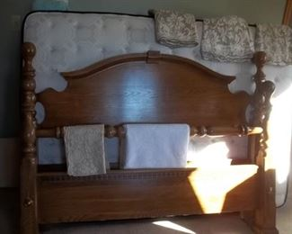 full/queen headboard and foot board, frame