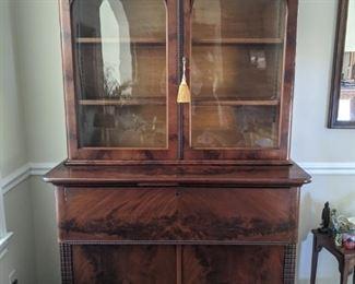 antique writing desk/bookcase