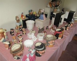 The  Royal Doulton Collection. Note the original boxes.