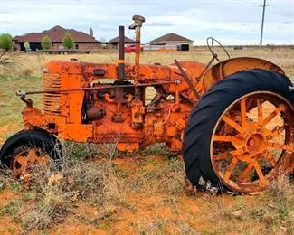 Case tractor. Does not run. Buyer must move .