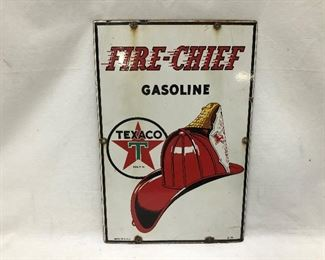 1941 PORCELAIN PUMP SIGN