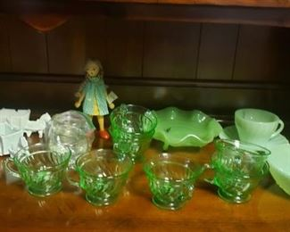 Jadeite, Fire King, Anchor Hocking, Depression Glass