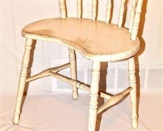 Antique Vintage Spindle Low-Back Chair