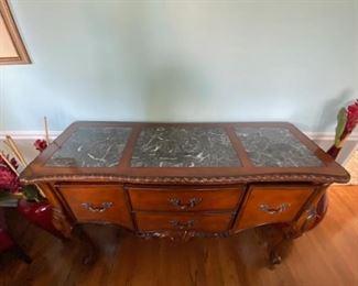 Marble Victorian credenza 250$ MUST GO