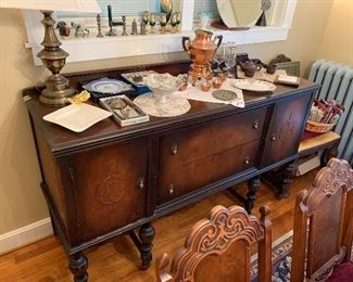 Antique Walnut Buffet NICE!