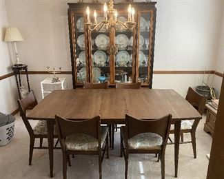 Mid Century Dining Table & Chairs  & China Cabinet