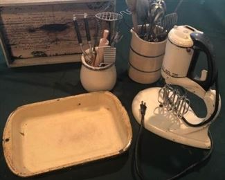 Vintage Mixer and Utensils