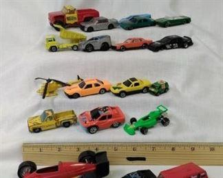grab bags of vintage metal cars and trucks