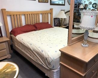 King Bedroom Set.  Entire Bed, Dresser, and 2 night stands.  $849!!!