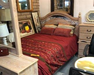 Queen bedroom set.  Entire Bed, Dresser, 2 night stands.  Like new! $749