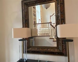 DEC0  REVERSE PAINT ON GLASS MIRROR FROM DESIGN CENTER  $1900.00