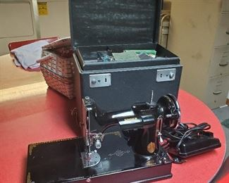 Singer Featherweight sewing machine, 1940, needs new cord. $150