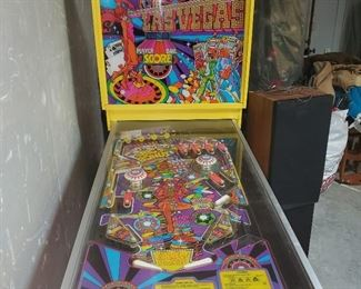 Working Las vegas pinball machine (needs work) but getting it looked at this week.  Turns on but no balls drop yet.