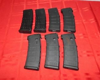 Lot of 7 30-Round Poly Mags