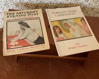 Vintage magazines, Saturday Evening Post & Woman's Home Companion 1915