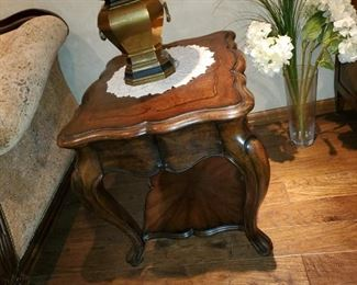"""Thomasville Side Table with lower shelf, coordinates with the other tables and curio in the suite.24""""w x 27""""d x 26""""h"""