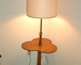 """Corner table lamp, 20"""" W 20"""" H (height of table top)"""