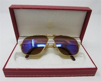 Vintage Cartier aviator sunglasses