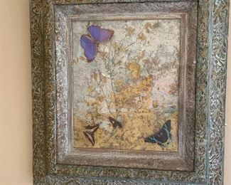 Gorgeous art with real butterflies, 24x38